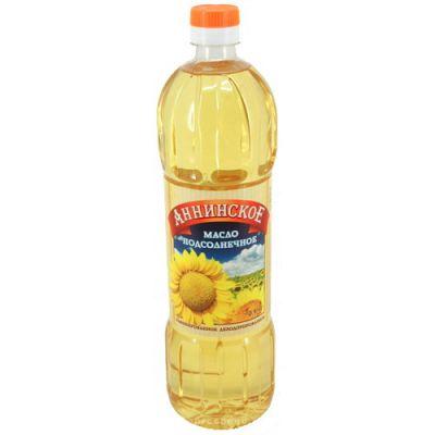 """Масло подсолнечное """"Аннинское"""" рафинированное 0,9 л"""