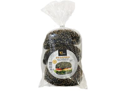 Булочка для гамбургера с кунжутом черная 210 гр