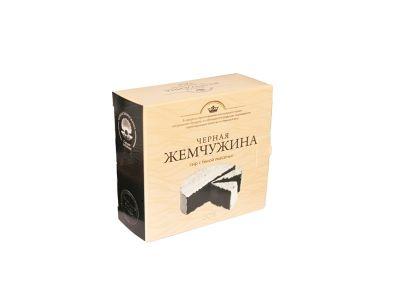 """Сыр """"Черная жемчужина""""с белой плесенью  50%  125 гр"""