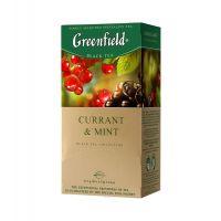 Чай Гринфилд черная смородина с мятой 25 пак