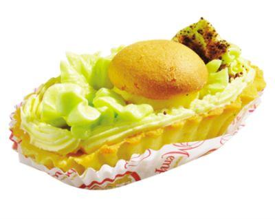 """Пирожное """"Корзиночка с кремом и фруктовой начинкой"""" 0,075 кг"""