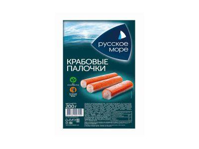 """Крабовые палочки  200гр """"Русское море"""""""