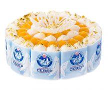"""Торт """"Легкий йогуртовый"""" с персиками 0,95 кг"""