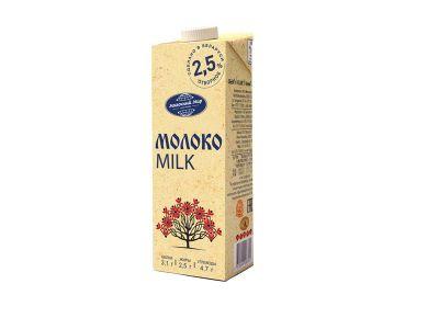 Молоко стерилизованное 2,5% 1л.