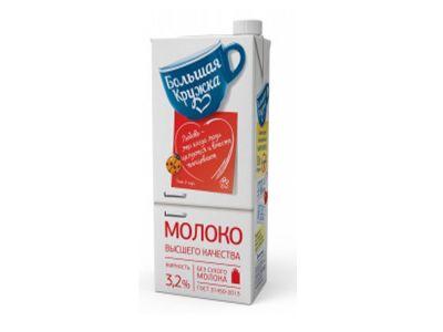 """Молоко """"Большая кружка"""" 3,2% - 1,98"""