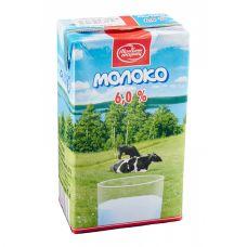 Молоко ультрапастеризованное 6% 1 л.