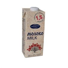 Молоко стерилизованное 1,5% 1 л.