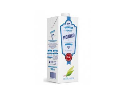 Молоко ультрапастеризованное 3,2% - 1 л.
