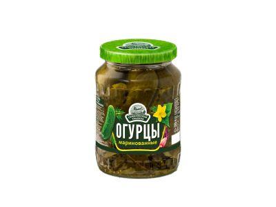 Огурцы маринованные 680 гр. /Семилукска трапеза/