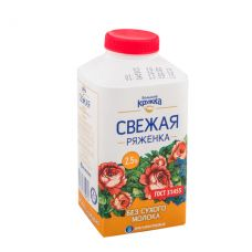 "Ряженка ""Свежее завтра"" 2,5% - 0,5 л"