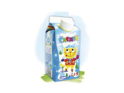 """Напиток кисломолочный """"Снежок""""  2,5% - 0,5"""