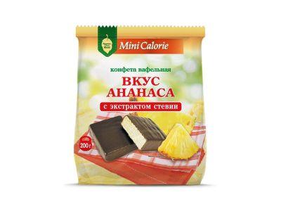 """Конфеты вафельные """"Вкус ананаса""""  на стевии 0,2"""