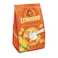 """Сухие завтраки """"Леонардо"""" хлопья кукурузные 250 гр"""