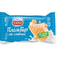 Мороженое  пломбир на сливках в вафельных листах 80 г /ТМ Юкки Беларусь/