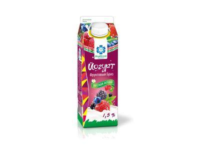 """Йогурт """"Фруктовый бриз""""  1,5% -0,5 в ассортименте"""