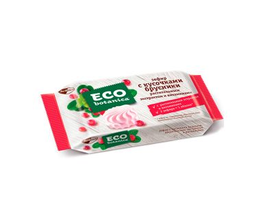 "Зефир ""Эко-ботаника"" с кусочками брусники и витаминами 250 гр"