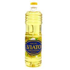 """Масло подсолнечное рафинированное """"Злато"""" 1 л."""