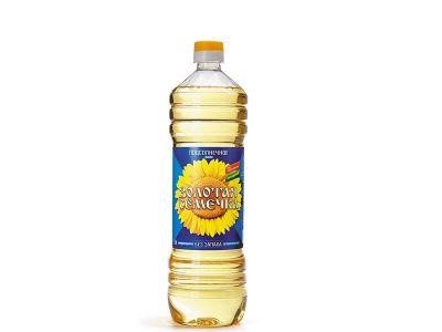 """Масло подсолнечное рафинированное """"Золотая семечка"""" 1л."""